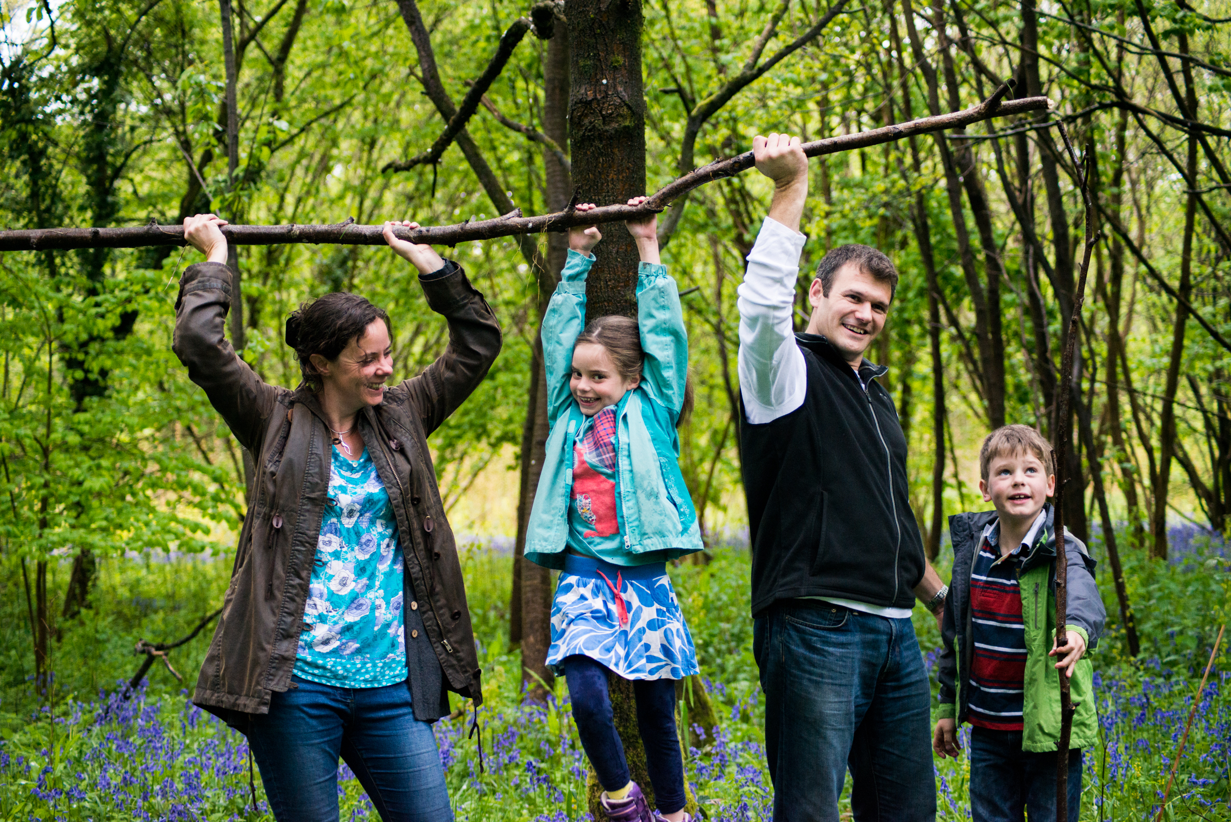 Family Photoshoot with Worthy Photography in the Bluebells at Otterbourne, near Winchester