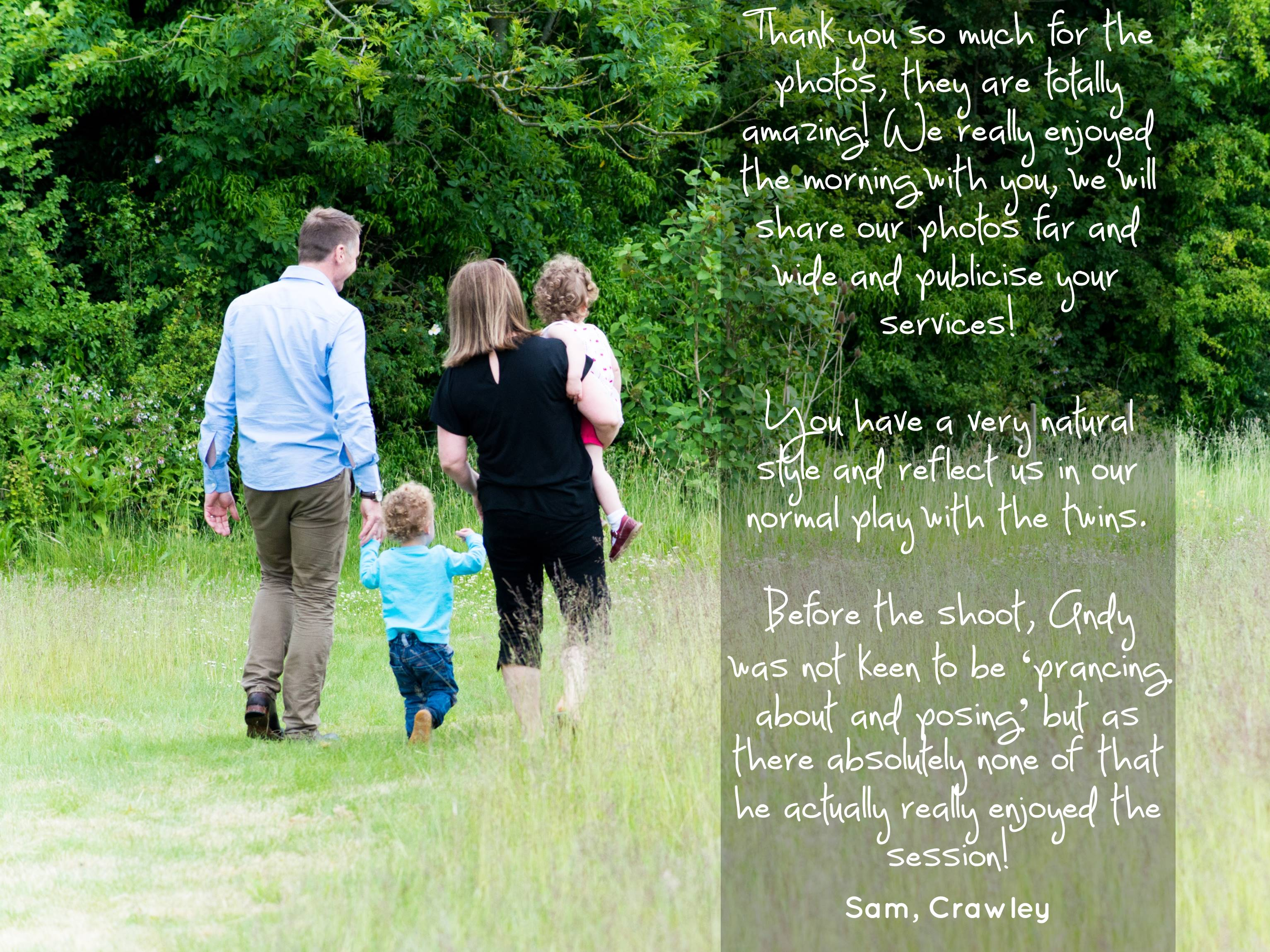 Testimonial Family Photography Hampshire