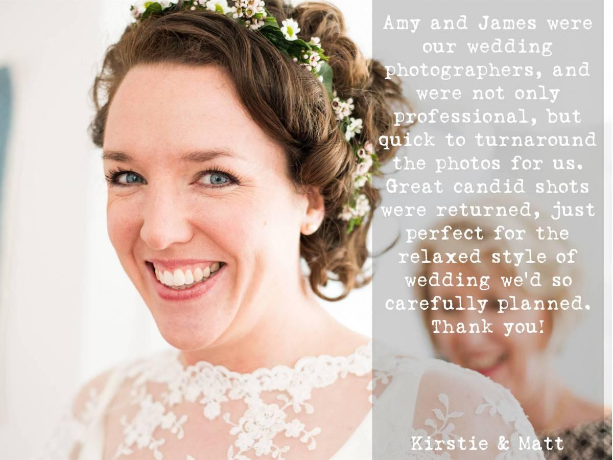 Worthy Photography Wedding Testimonial