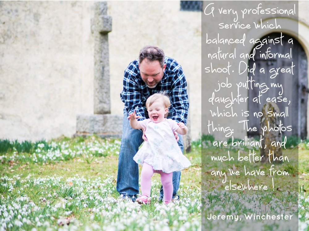 Testimonials for Worthy Photography, Hampshire