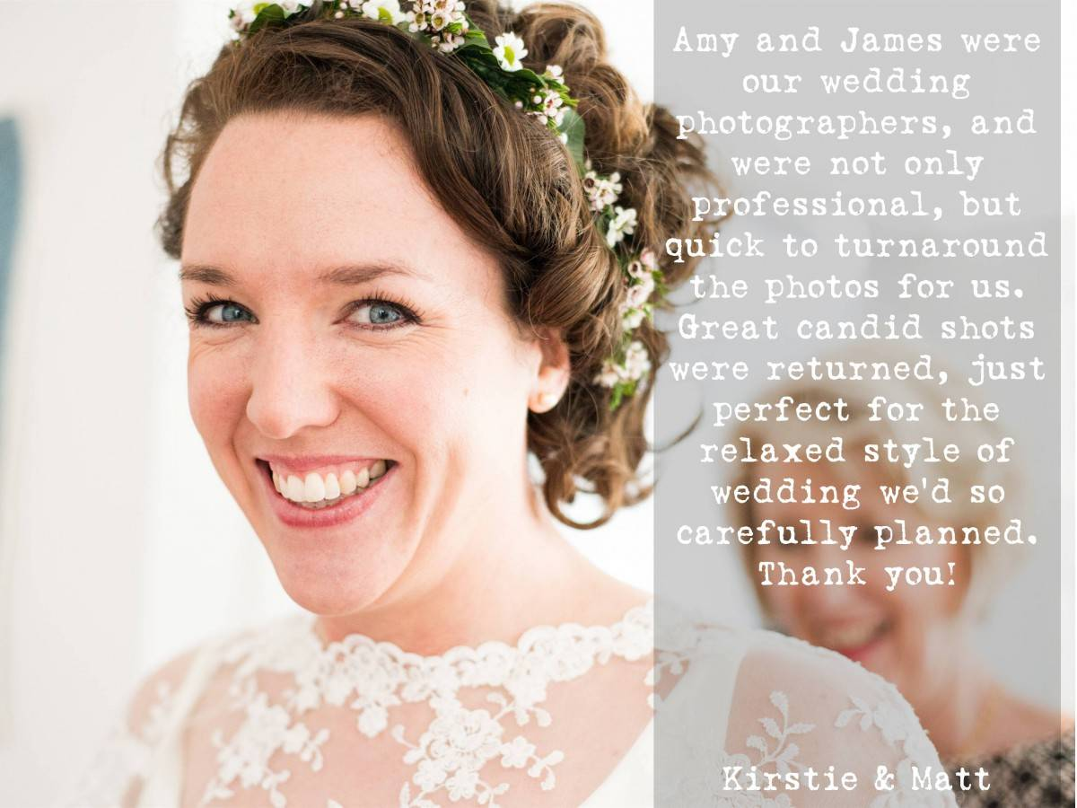 Worthy Photography Wedding Testimonial